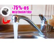 Vízfogyasztás csökkentő perlátor csapra, külső menetes 75%